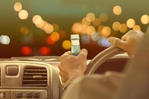 betrunken fahren ein Auto Konzept foto