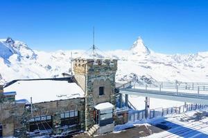 das Observatorium am gornergrat gipfel, schweiz, 2018 foto
