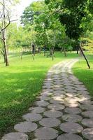Weg in einem Park foto