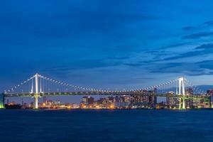 Odaiba Brücke in Japan foto