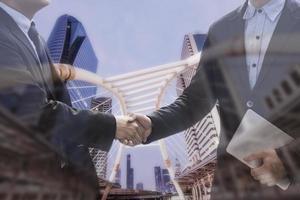 erfolgreiches Verhandlungsgeschäftskonzept foto