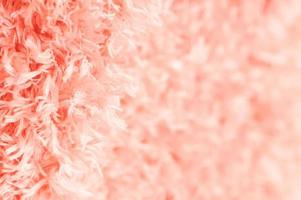 Nahaufnahme weichen rosa Baumwollteppich