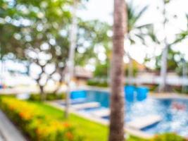 abstrakte Unschärfe und defokussierter Resorthintergrund foto