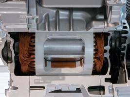 Schnittansicht von Motor und Getriebe