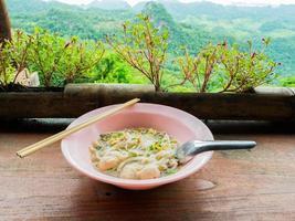 Suppe mit Aussicht foto