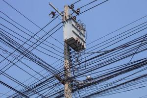Strommast während des Tages foto