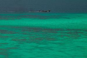grünes Strandwasser