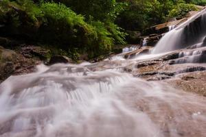 Nahaufnahme eines Wasserfalls