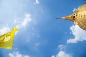 Flagge und Stupa