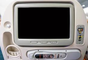 privater Monitor im Flugzeugsitz