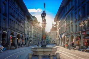 Straßenansicht auf Kramgasse in Bern, Schweiz