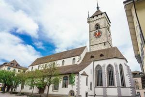 die historische kirche st. johann in schaffhausen, schweiz