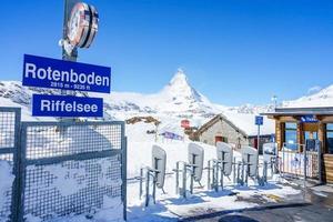 Rotenboden Station in Zermatt, Schweiz, 2018