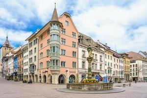 vordergasse straße in schaffhausen, schweiz, 2018