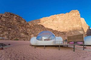 Camping entlang der Felsen in Petra, Wadi Rum, Jordanien