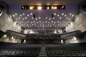 Blick auf ein leeres Kino