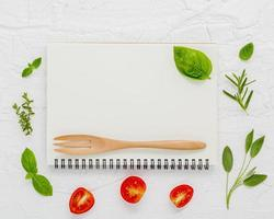 Menü Notebook-Konzept foto