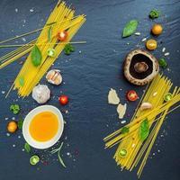 italienische Lebensmittelzutaten foto