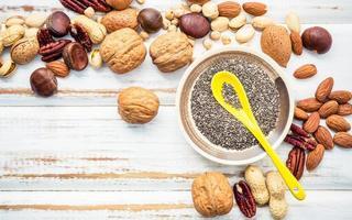 Omega-3-Fettsäuren und ungesättigte Fette foto