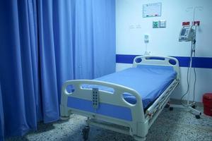Krankenhausbett für Covid - 19 foto