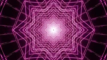 Kaleidoskop-Entwurfsillustration der violetten Sternlinien 3d für Hintergrund oder Textur foto