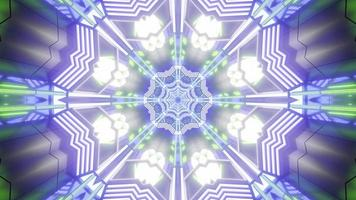 bunte 3d Kaleidoskop-Blumenentwurfsillustration für Hintergrund oder Beschaffenheit foto