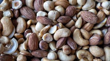 Haufen gemischter Nüsse
