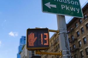Zebrastreifen Zähler in New York City foto