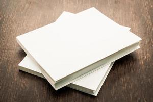 leere weiße Notizbücher foto