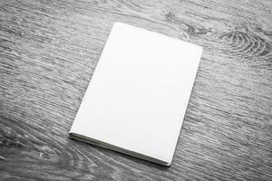 leeres weißes Notizbuch