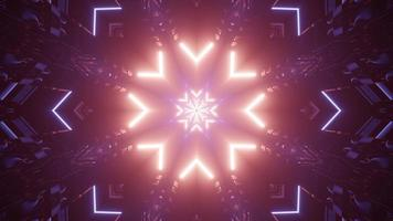bunte 3d Kaleidoskop-Entwurfsillustration für Hintergrund oder Textur foto