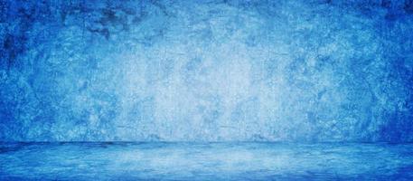 blauer Studiobannerhintergrund foto