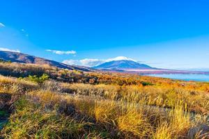 Fuji Berg am Yamanakako oder Yamanaka See in Japan