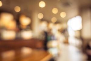 abstrakt defokussiertes Restaurant und Café Interieur foto