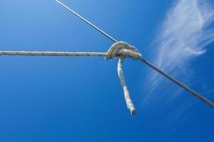 Knoten im Seil foto