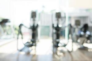 abstrakt defokussiertes Fitnessstudio und Fitnessraum