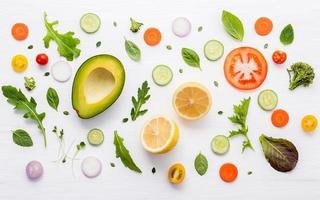 Lebensmittelmuster für frische Zutaten foto