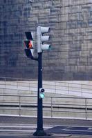Ampel auf der Straße in Bilbao City, Spanien foto