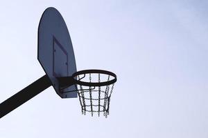 Straßenbasketballkorb foto