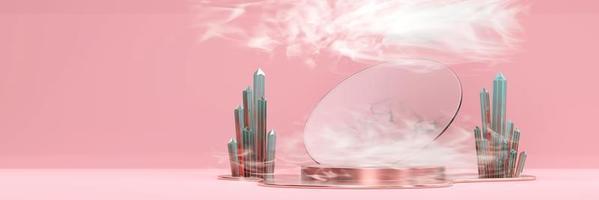 abstraktes Bühnenpodestmodell foto