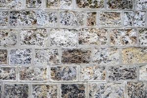 Detail der Steinmauer foto