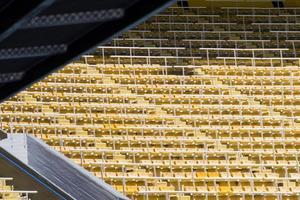 Detail des Fußballstadions foto