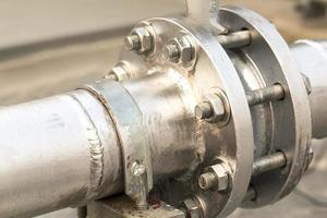 industrielle große Wasserleitungen foto