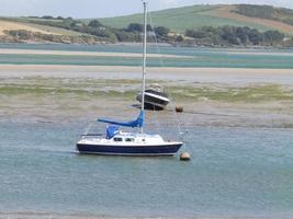 Boote bei Padstow, Großbritannien foto