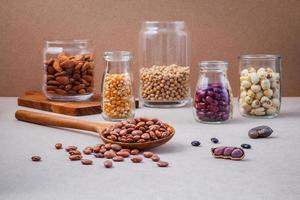 Bohnen und Nüsse foto