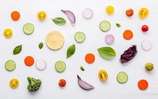 Lebensmittelmuster isoliert foto