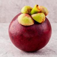 köstliche Mangostanfrucht foto