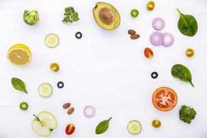 Kreis von Lebensmitteln