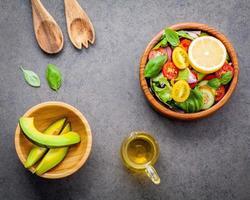 Salat und Melone foto
