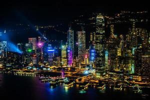 Ansicht von Hong Kong City, China foto